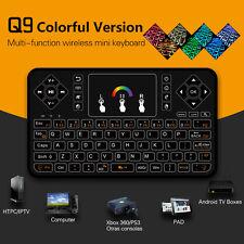 2.4GH Wireless Mini Funk kabellos Tastatur Mit Touchpad beleuchtet AirMouse PC