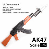 1/6 Scale AK47 Gun Model Puzzles Building Bricks Gun Soldier Weapon Assembly