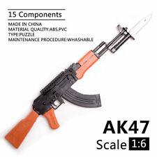 1/6 Scale AK47 Gun Model Puzzles Building Bricks Gun Soldier Weapon Assembly