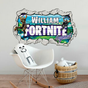 FORTNITE PERSONALISED WALL ART STICKER CHILDREN'S BEDROOM MURAL DECAL