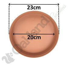8 x 23cm Plant Pot Saucer Drip Tray Terracotta Plastic Deep High Sided Strong