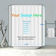 Customized Waterproof Polyester Shower Curtain With 12 Hooks Extra Long 8 Sizes