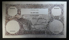 ROMANIA 100 LEI 1931 SILVER PLATED POLYMER BANKNOTE
