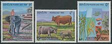 LAOS N°514/516** Ressources nationales, ELEPHANTS, BOEUFS.., 1983 SC#502-504 MNH