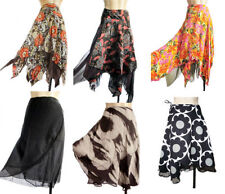 Rayon Hippy, Boho Casual Floral Skirts for Women