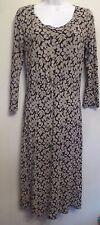 LK Bennett UK6 EU34 US2 black stretch jersey 3/4 sleeve dress with stone pattern