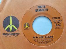 "BOOTS RANDOLPH - Old Joe Clark / Behind Closed Doors 1974 COUNTRY JAZZ 7"""