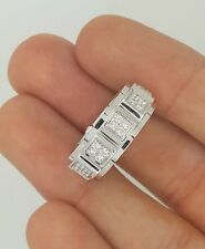 NEW 18K WHITE GOLD DIAMOND ETERNITY ALL AROUND ANNIVERSARY BAND RING Size 6.5