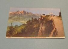1908 Mt. Pilatus Switzerland Color Postcard Men Using Telescope Rigi-Kulm
