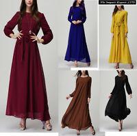 Vestito Lungo Donna Manica Lunga Woman Maxi Dress 110174