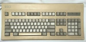 Dell AT101 GYI3PVAT101 Old Logo PS/2 Mechanical Keyboard ALPS Salmon Made in USA