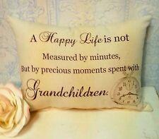 Handmade Grandparent's Gift Pillow - Time Spent With Grandchildren