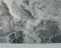 Norbert Richter Scrobinhusen Original Lithographie  signiert G-938