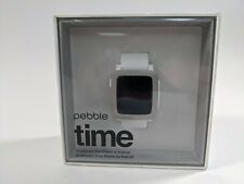 Pebble Time  Arctic White Classic Buckle - (501-00021)