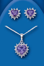 Echtschmuck-Sets aus Sterlingsilber mit Diamant