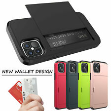 For iPhone 12/12 Pro Max 5G Wallet ID Slot Credit Card Holder Slim Case Cover