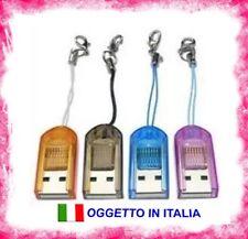 LETTORE ADATTATORE SCHEDE DI MEMORIA MICRO SD USB 2.0/1.1 CARD READER TF