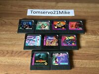 Sega Game Gear Lot of 9 Great Games Castle Of Illusion Mortal Kombat Sonic MORE