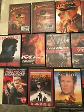 Lot of 16 Action Adventure Dvds Untouchables,007, Die Hard, Indiana Jones & More