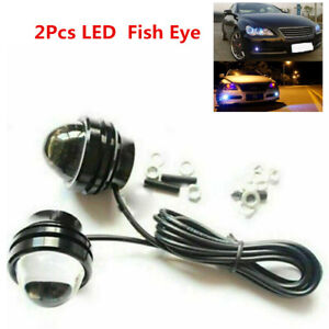 2Pcs LED  Fish Eye Car SUV Driving Daytime Running DRL Bulb 12V