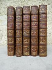 HISTOIRE de POLYBE par V.THUILLIER & FOLARD 5 Tomes/6 illustrés GANDOUIN 1727 EO