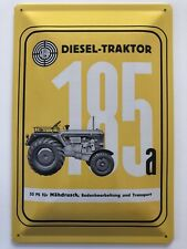 Blechschild 30 X 20 cm Steyr Mähdrusch Traktor PS 55 Typ 185a