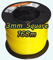 168m of Genuine STIHL 3mm SQUARE Brushcutter Strimmer Trimmer Cord Line Wire