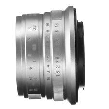25mm F1.8 Fixed Lens Manual Focus MF For Fujifilm Fuji X-mount X-E3 X-A20 Silver