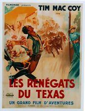 WESTERN 1940 TIM MAC COY LES RENEGATS DU TEXAS  AFFICHE ENTOILEE