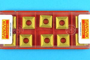 10 SANDVIK SPMT-120408-WL - Grade 4030 CNC Milling Coated Carbide Inserts