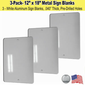 """10 Pieces of GLOSS WHITE SUBLIMATION BLANKS 12/""""x 12/"""" with 3//16/"""" Corner Holes"""