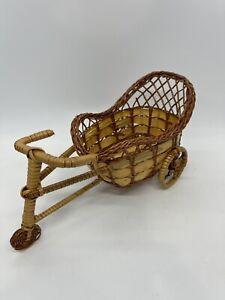Wicker Rattan Straw Bicycle Shape Woven Straw Basket Organizer