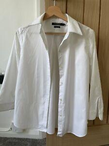 Ralph Lauren White Cotton Ladies Shirt, Size L
