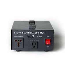 ELC T-1000 1000Watt Voltage Converter Transformer-Step Up/Down (110V/220V)