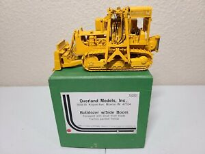 Caterpillar D8 Bulldozer with Side Boom - Yellow Overland Brass 1:50 Scale New!