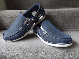 "Lightly Worn Mens CROCS Navy ""Beach Line"" Boat Shoes, Loafers Size M12 / UK11?"