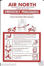 Safety Card - Air North - De Havilland Canada - Twin Otter - DHC-6 (S3581)