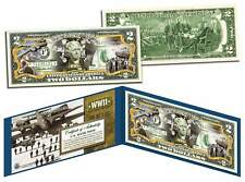 World War Ii * B-17 Flying Fortress * Colorized U.S. $2 Bill Wwii Boeing Bomber