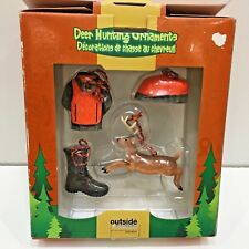 GSI Outdoors 2005, 4 Deer Hunting Ornaments, Used in the box