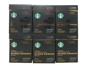 Starbucks Verismo Blonde Espresso Roast Torrefaction 72 Pods Exp Oct 2020