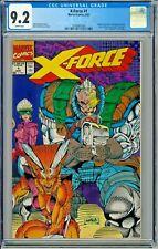 X-Force # 1 CGC 9.2 Marvel 1991 Liefeld Negative UPC