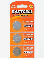 3 x CR2025 3V Lithium Batterie 150 mAh ( 1 Blistercard a 3 Batterien ) EASTCELL