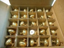 NO RESERVE-  25 Polished Brass Finish Drawer Knobs Pulls Cabinet Door Hardware!