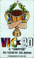 """ADESIVO/STICKER *  VIC-20 IL """" COMPUTER """" PIU' VENUTO NEL MONDO- UN MILIONE 1982"""