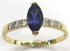 10K SOLID GOLD .60 CARAT NATURAL IOLITE & NATURAL DIAMOND RING