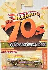 HOT WHEELS THE '70S CARS OF THE DECADES '77 CORVETTE F/C #17/32