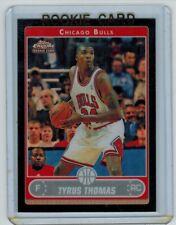 2006-07 TOPPS CHROME TYRUS THOMAS #189 ROOKIE BLACK REFRACTOR 82/99 BULLS