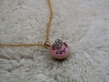 JUICY COUTURE Goldtone Pink CUPCAKE Pendant Necklace (A36)