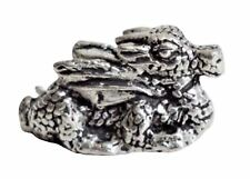 Small Dragon Pewter Ornament - Made in Cornwall