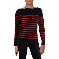 Lauren Ralph Lauren Arimelle Women's Cashmere Striped Boatneck Sweater